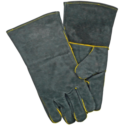 Thick Heat Resistant Fireside Gloves Black