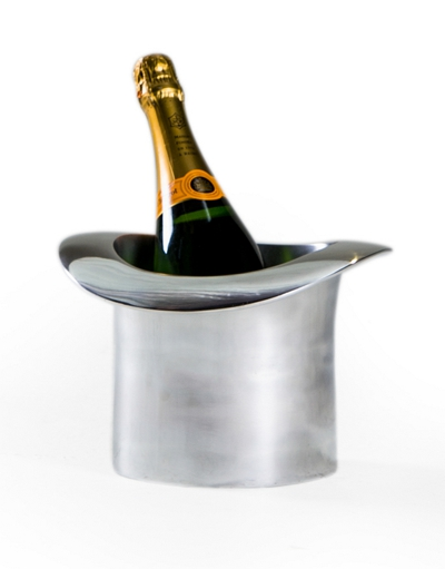 Top Hat Chrome Ice Bucket