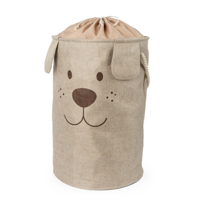 Woof Laundry Hamper Brown