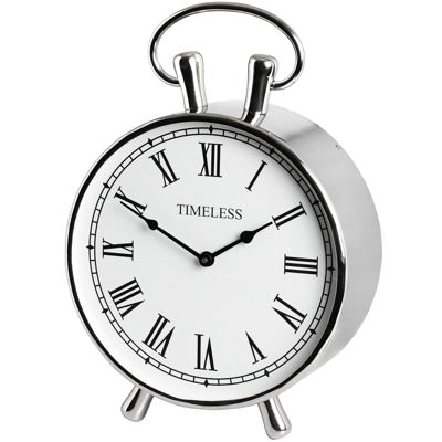 Large Mantel Clock Chrome