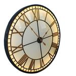 Illuminated Light Big Skeleton Vintage Wall Clock