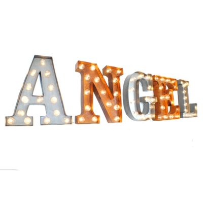 Angel Illuminated Carnival Vintage Letter Lights