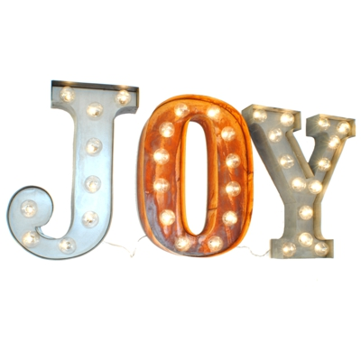 Joy Illuminated Carnival Vintage Word Lights