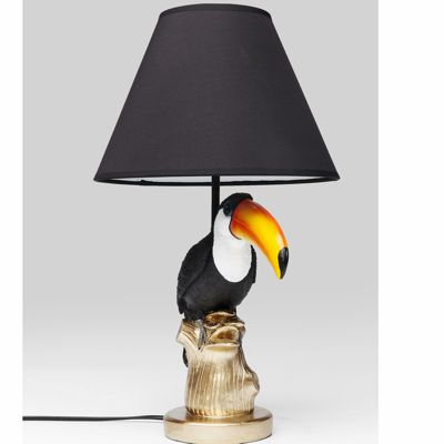 Toucan Table Lamp Black Shade