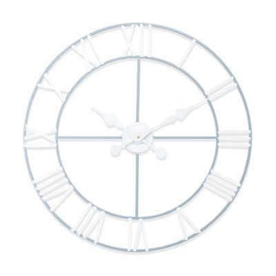 New Haven Grey and White Skeleton Wall Clock