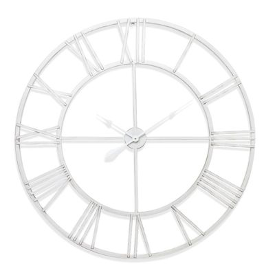 New Haven White Skeleton Wall Clock