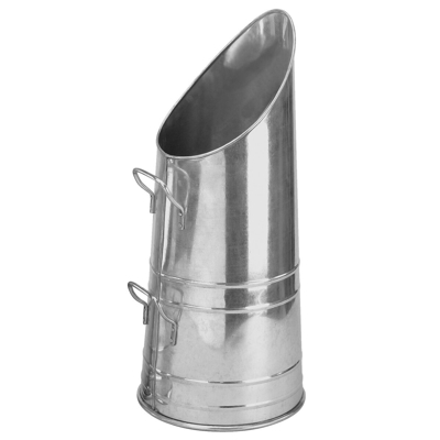 Modern Galvanised Metal Coal Scuttle