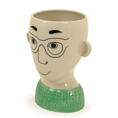 Doodle Man Ceramic Vase Glasses