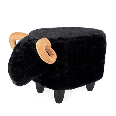 Sheep Pouffee Footstool Black