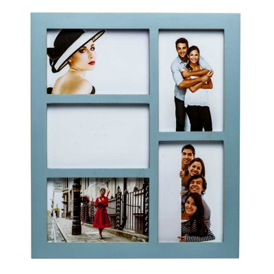 Gallery Blue Five Aperture Multi Photo Frame