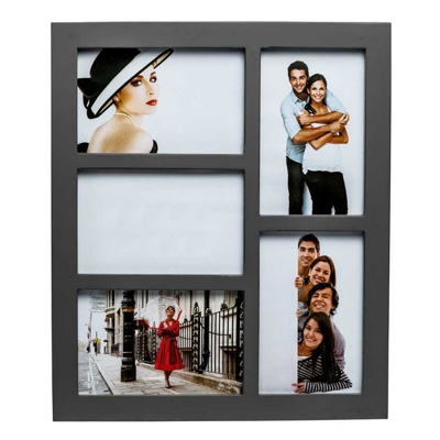 Gallery Grey Five Aperture Multi Photo Frame