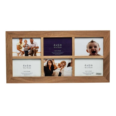 New England Solid Oak 6 Aperture Photo Frame