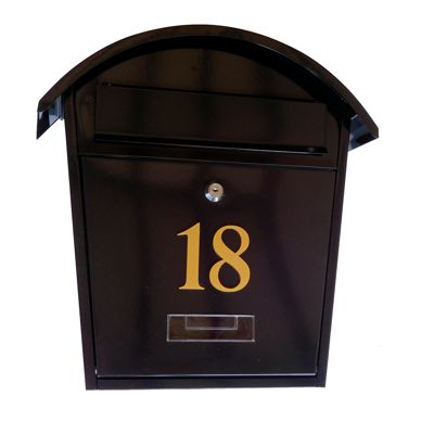 Personalised Letterbox Mail Post Box White & Black