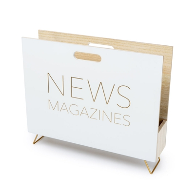 Magazine Rack News White