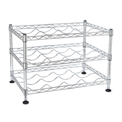 Wine Rack Chrome Three Tier