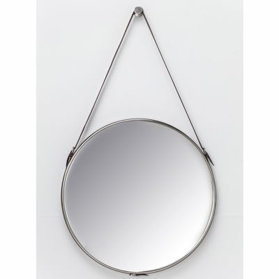 Round Wall Mirror Leather Strap