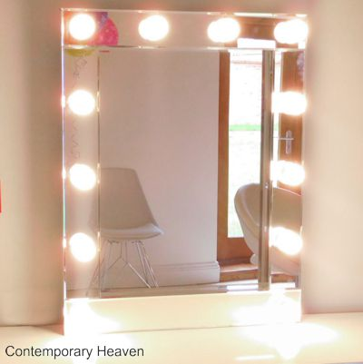 Bevelled Hollywood Illuminated Wall Mirrors