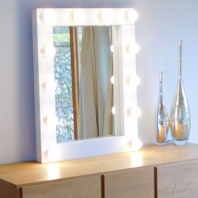 Gloss White Bevelled Hollywood Wall Mirrors