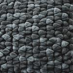 Dreamweavers Smoke Grey Chamois Pebble Rug