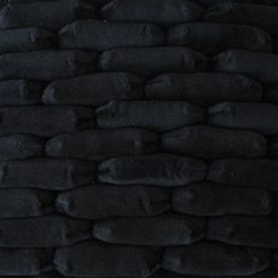 Dreamweavers Black Chamois Cobble Rug