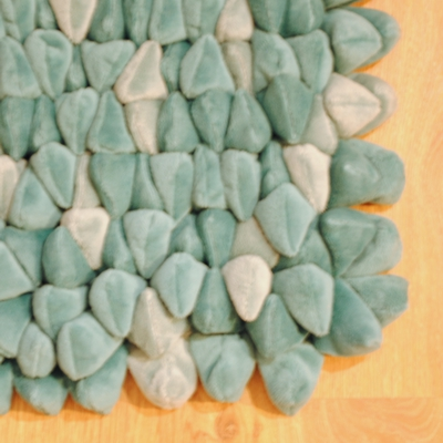Dreamweavers Teal Chamois Pebble Rug