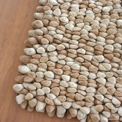 Dreamweavers Camel Chamois Pebble Rug