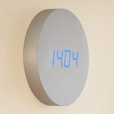 Gingko Wall Click Clock Aluminium