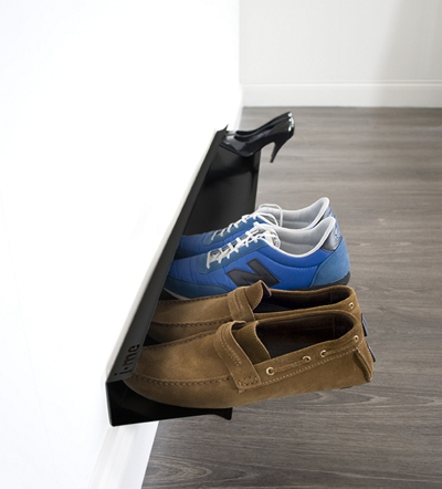 J Me Floating Shoe Rack Black