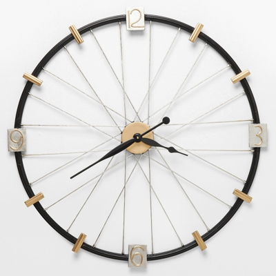 Kare Spoke Wheel Wall Clock