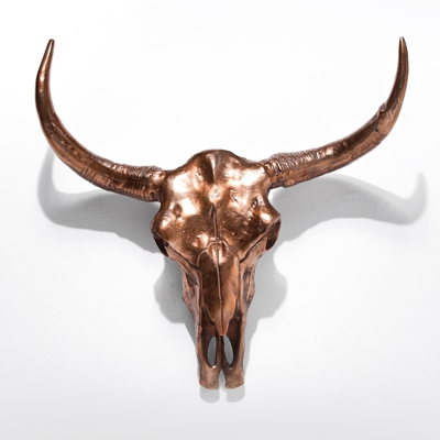 Kare Skull Wall Decor Trophy Head Copper