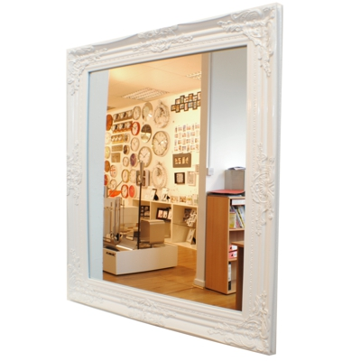 Kare Baroque Vintage Gloss White Wall Mirror