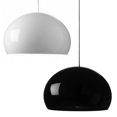 Kartell FLY Pendant Light BLACK AND WHITE