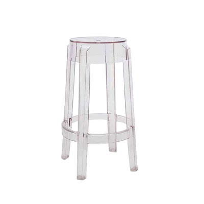 Kartell Charles Ghost Medium Stool