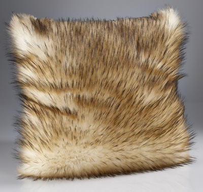 Katrina Hampton Cream Reynard Faux Fur Cushions