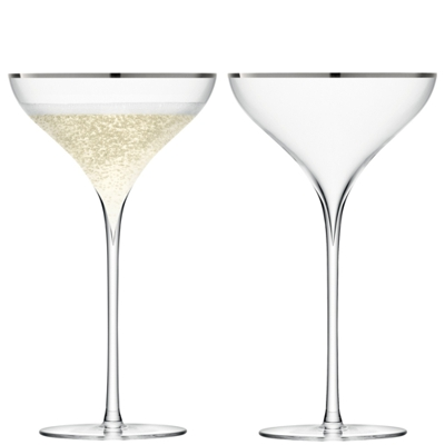 LSA Savoy Champagne Saucers