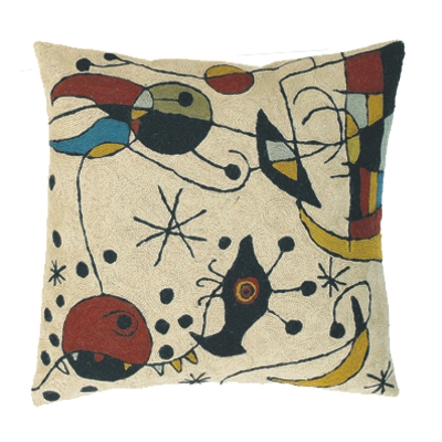 Zaida Miro Kite Flying Cream Cushion 18""