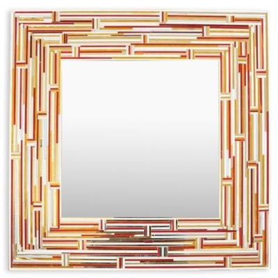 Piaggi Barbarella Gold Square Mirror