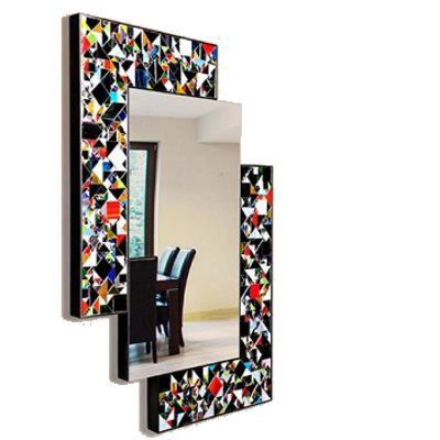Piaggi Kaleidoscope Multicolour Wall Mirror