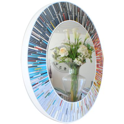 Piaggi White Framed Roulette Wall Mirror