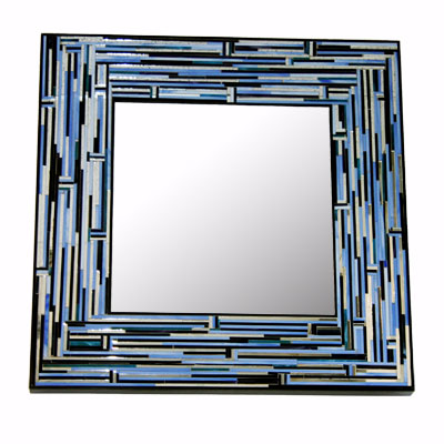 Piaggi Barbarella Blue Square Mirror