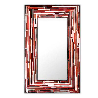 Piaggi Barbarella Red Rectangle Mirror