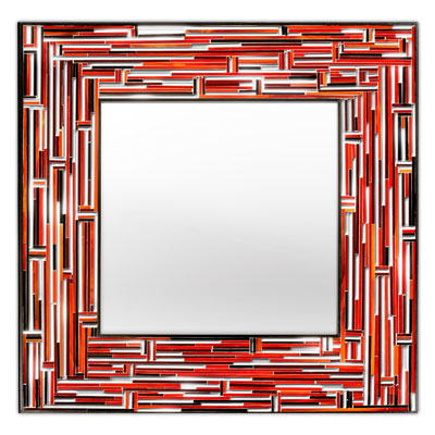 Piaggi Barbarella Red Square Mirror