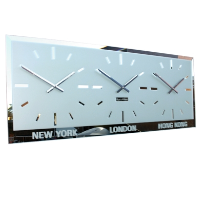 Bevelled World Clock 26cm Dial
