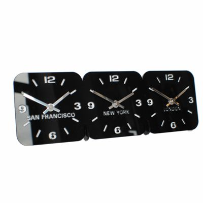 Roco Verre Acrylic Desk Table Time Zone Clock