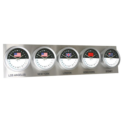 Roco Verre Custom World 5 18cm Flag Clocks Steel