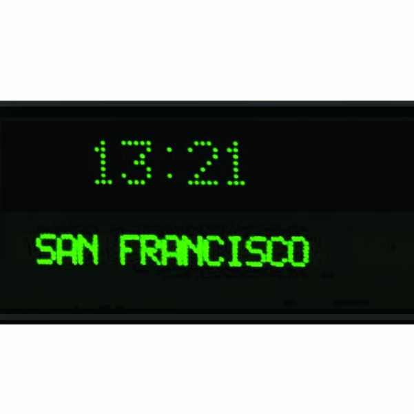 Roco Verre Dot Matrix Digital Time Zone Clock 5cm