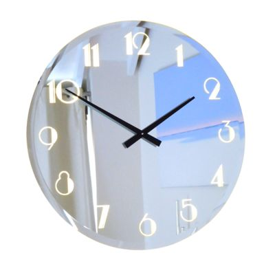 Illuminated Bevelled  Deco Mirror Wall Clock Light