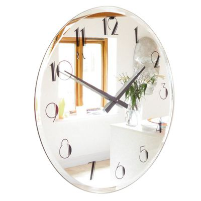 Roco Verre Art Deco Bevelled Mirror Twenties Clock
