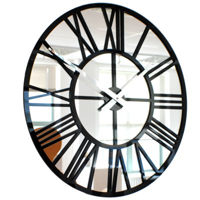Roco Verre Mirror Skeleton Wall Clock