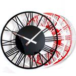 Roco Verre Acrylic Gloss Skeleton Roman Wall Clock